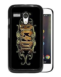 New Fashion Custom Designed Cover Case For Motorola Moto G With ACDC Black Phone Case