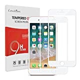 Lanhiem 2-Pack iPhone 7 Plus / 8 Plus Screen Protector - HD Full Coverage Tempered Glass Screen Film, Shatter-Proof, Bubble-Free, Case-Friendly, 3D Touch Responsive, Edge to Edge Protection -White
