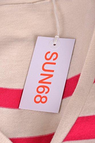 Sun 68 Cardigan Donna MCBI286085O Cotone Bianco/Rosso