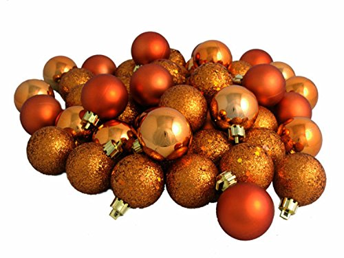 96 Count Shatterproof Orange 4-Finish Christmas Ball Ornaments