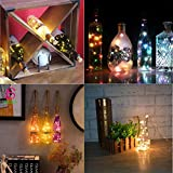 Aokely Wine Bottle Lights with Cork 20 LED Copper
