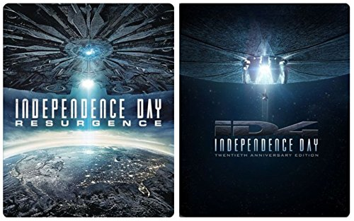 iD4 & Independence Day Ressurgence Exclusive Steelbook Sci-Fi Blu Ray Space Double Feature Action Space Movie Set 20th Anniversary
