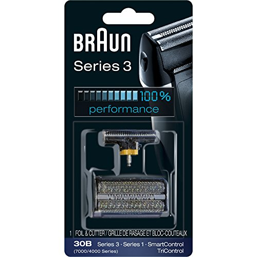 (Braun Series 3 30B Foil & Cutter Replacement Head,  Compatible with Previous Generation SmartControl, TriControl, 7000/4000 shavers, and Series 3 (340s))