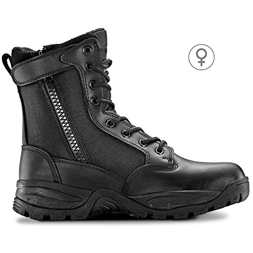 Maelstrom Womens TAC FORCE 8 Inch Military Tactical Duty Work Boot with Zipper, Black, 8 M US