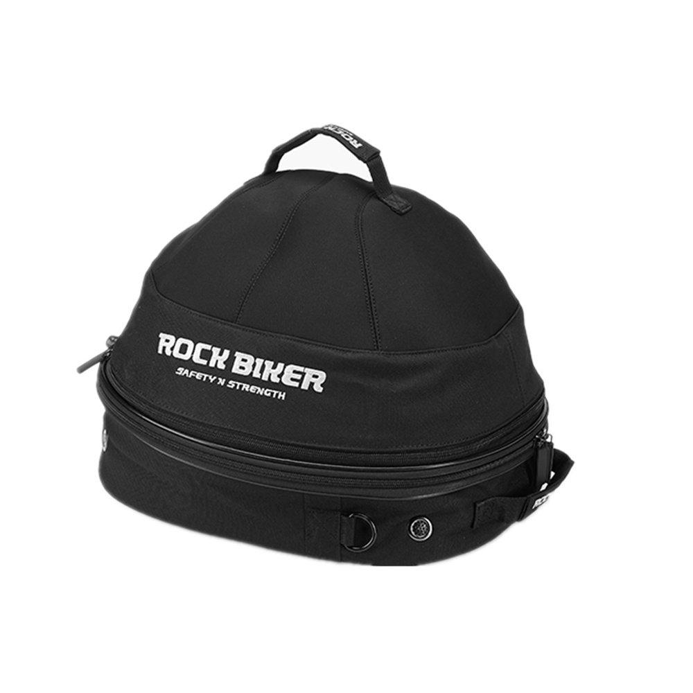 Waterproof Motorcycle Helmet Bag Storage convenient height-adjustable double zipper Up Black