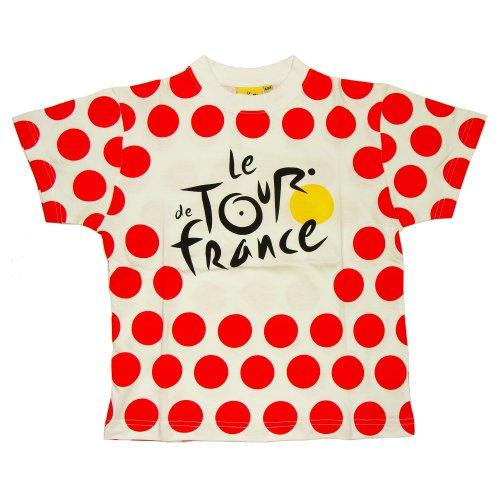 Le Tour de France - Official Tour de France 'Polka Dot Jersey' Boys T-Shirt (6 -8 years) (Tour De France Polka Dot Jersey For Sale)