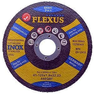 PREMIUM Pack of 10 x Ultra Thin 125mm x 1mm 2in1 METAL/INOX Angle Grinder Circular Saw- Stainless Steel- Aluminium cuttings dics - metal cutting slitting discs FLEXUS