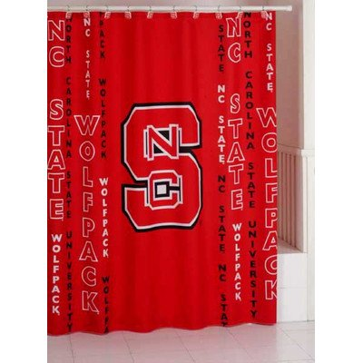 NCAA Shower Curtain NCAA Team: North Carolina State Carolina State Drape