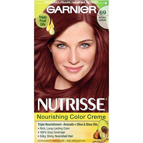 Garnier Nutrisse Haircolor, Intense Auburn [69] 1 ea (Pack of 5) by Garnier