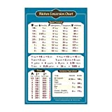 "Magnetic Kitchen Conversion Chart - 5.5"" x 8.5"" - Convenient Table Of Key Measurement Conversions for Cooking"