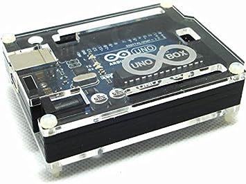 SATKIT Caja Protectora acrilico para Arduino Uno: Amazon.es ...