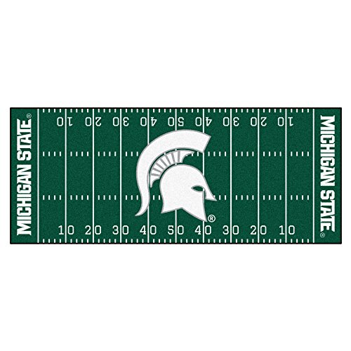 Fanmats 7550 Michigan State University Football Field (Michigan State Spartans Rug)