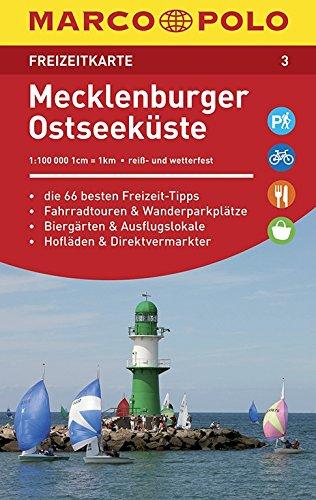 MARCO POLO Freizeitkarte Mecklenburger Ostseeküste (Niederländisch) Landkarte – 6. Juni 2016 MAIRDUMONT 3829743033 Mecklenburg-Vorpommern Ostseeküste und -inseln