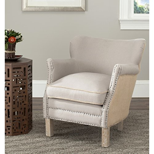 Safavieh Mercer Collection Jenny Arm Chair, Taupe/Beige - Petite Wingback Chair