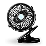 StillCool Small Portable Battery Operated Fan, Personal Clip or Desk Fan Powered by Rechargeable Battery or USB for Baby Stroller, Outdoor Activity and Home