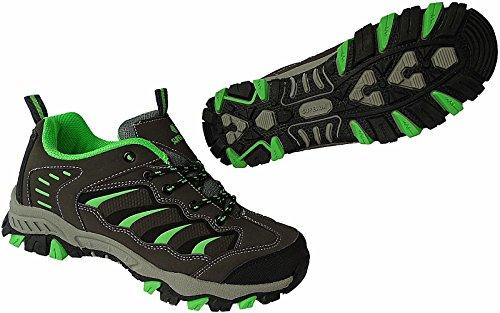 SUPER UN Outdoor Herren Trekking Wanderschuhe Sneaker Schuhe Gr.41-46 Art-Nr.6068 d.grau