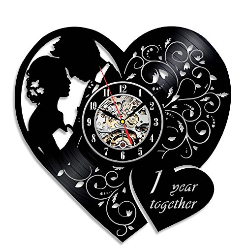 Anniversary Wall Clock - Evaastore Wedding Anniversary Vinyl Wall Clock Gift Modern Home Record Vintage Decoration Celebrate Your Love One Years Together