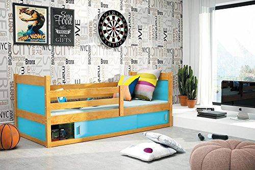 Letto standard rico per bambini dimensioni 185x80 cm colore ontano materasso gratuito letti - Letto per bambini 160 80 ...
