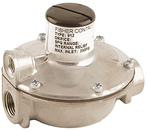 Emerson-Fisher LP-Gas Equipment,  912-101, 1/4'' x 3/8'' FNPT, Single Stage Regulator, Outlet: 9.25-13 InWC, Vent over Outlet, UL Listed