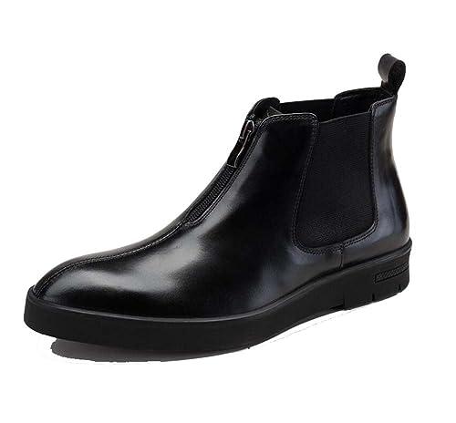 Botines para Hombres de Negocios Botas Sencillas Botines Cómodos Bottom Daily Use Wear Botas para Hombres