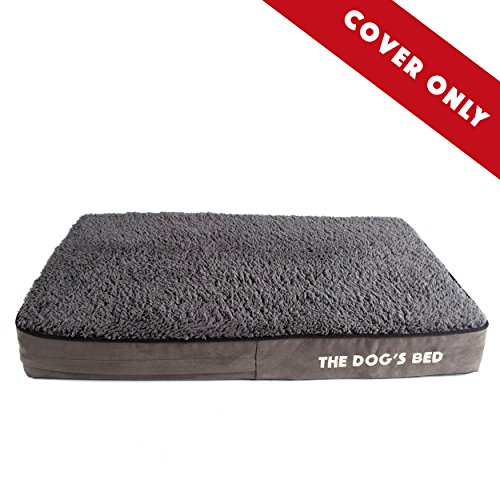 "Replacement Cover & Waterproof Inner (COVERS ONLY - NO BED) For The Dog's Bed Orthopedic Memory Foam Dog Bed. Washable Quality Plush Fabric, Medium 34"" x 22"" x 4"" (Grey Plush) by The Dog's Balls"