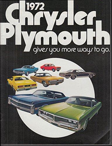 1972 Chrysler Plymouth brochure Barracuda Fury Road Runner New Yorker Imperial +