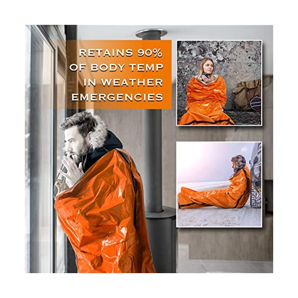 Emergency-Sleeping-Bag-Bivy-Sack-Rescue-Kit-Compact-Lightweight-Multi-Functional-Durable-Mylar-Shelter-Paracord-Drawstring-Ultralight-Life-Saving-Snow-Storm-Backpack-Car-Cabin-Boating-Home-Survival-2