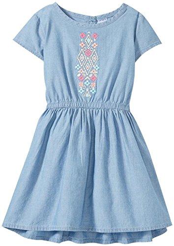 Carter's Girls' Woven Chambray Dress, Denim, 2T