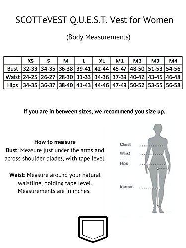 SCOTTeVEST Women's Q.U.E.S.T. Vest - 42 Pockets – Photography, Travel Vest (Large, Beige) by SCOTTeVEST (Image #6)