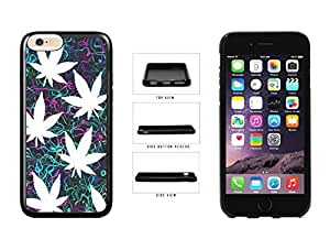 Marijuana Leaf Spaced Out On Trippy Background TPU RUBBER Phone Case Back Cover Apple iphone 5c ( es screen) includes fashion case Cloth and Warranty Label