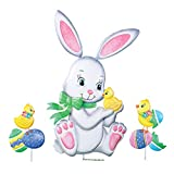 Easter Bunny and Chicks Outdoor Garden Decoration - 3pc. Yard Stake Set