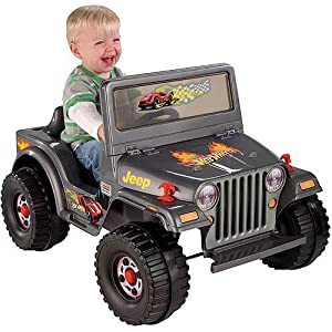 Fisher-Price-Power-Wheels-Charcoal-Hot-Wheels-Jeep-6-Volt-Battery-Powered-Ride-On