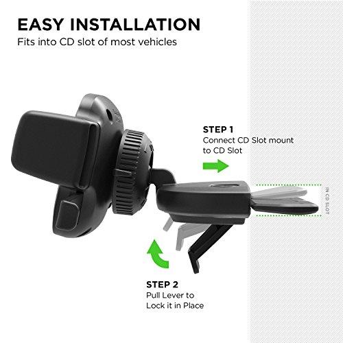 iOttie-Easy-One-Touch-4-CD-Slot-Car-Mount-Holder-Cradle-iPhone-X-88-Plus-7-7-Plus-6s-Plus-6s-6-SE-Samsung-Galaxy-S9-S9-Plus-S8-Plus-S8-Edge-S7-S6-Note-8-5