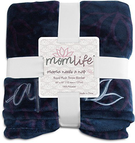 Mom Life 85223 Mama Needs a Nap Lotus Flower Plush Throw Blanket