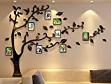 Living Room Furniture 3d Picture Frames Tree Wall Murals for Living Room Bedroom Sofa Backdrop Tv Wall Background, Originality Stickers Gift, Removable Wall Decor Decal Sticker (70(H) x 98(W) inches)
