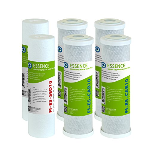 APEC Water Systems FILTER-SET-ESX2 2 Sets of High Capacity Replacement Pre-Filter Sets For Essence Series Reverse Osmosis Water Filter System Stage 1-3 ()