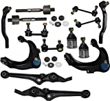 2000 honda accord rear end link - PartsW 16 Pcs Kit Front Upper & Lower Control Arm Ball Joints Inner & Outer Tie Rod End Rear & Front Sway Bar End Link Front Shock Bushings