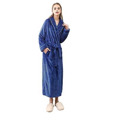 Lvguang Pijamas Hombre Mujer Franela Albornoz Bata de Baño Unisex Bata de baño Suave: Amazon.es: Ropa y accesorios