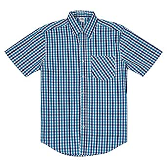 DB Blue Cotton Shirt Neck Shirts For Men
