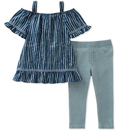 - Calvin Klein Baby Girls Tunic Leggings Set, Print/wash Blue, 12M