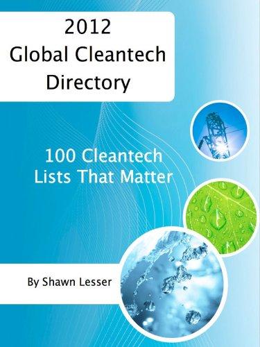 2012 Global Cleantech Directory: 100 Cleantech Lists That Matter Pdf