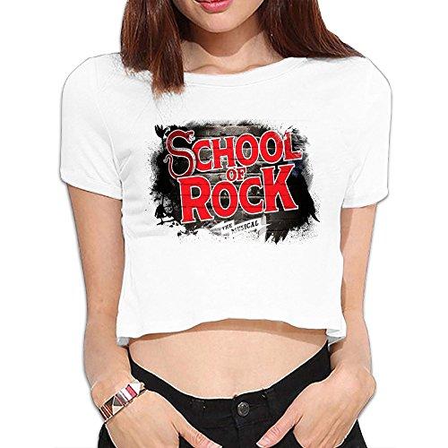 - Women's School Of Rock Musical Logo Midriff-baring Shirt