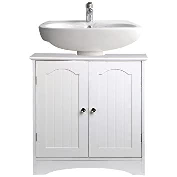 Marvelous Chinkyboo Bathroom Under Sink Storage Cabinet In White Home Interior And Landscaping Eliaenasavecom