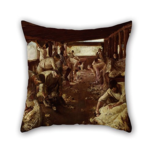 [Oil Painting Tom Roberts - The Golden Fleece Throw Pillow Covers ,best For Play Room,christmas,deck Chair,car,shop,floor 20 X 20 Inches / 50 By 50 Cm(two] (Thomas The Train Costume Walmart)
