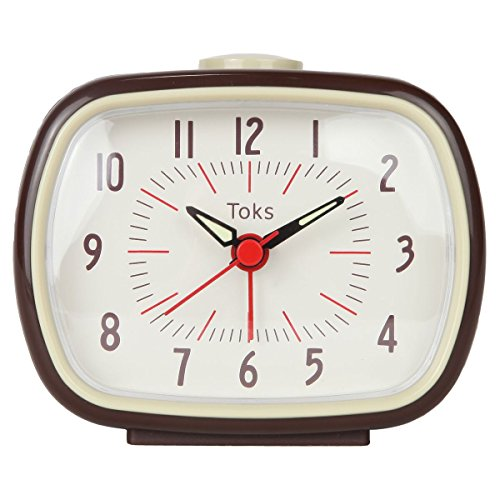 (Lily's Home Quiet Non-Ticking Silent Quartz Vintage/Retro Inspired Analog Alarm Clock - Brown)