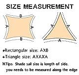 """SUNNY GUARD 9'10"""" x 9'10"""" x 13' Sand Triangle Sun"""