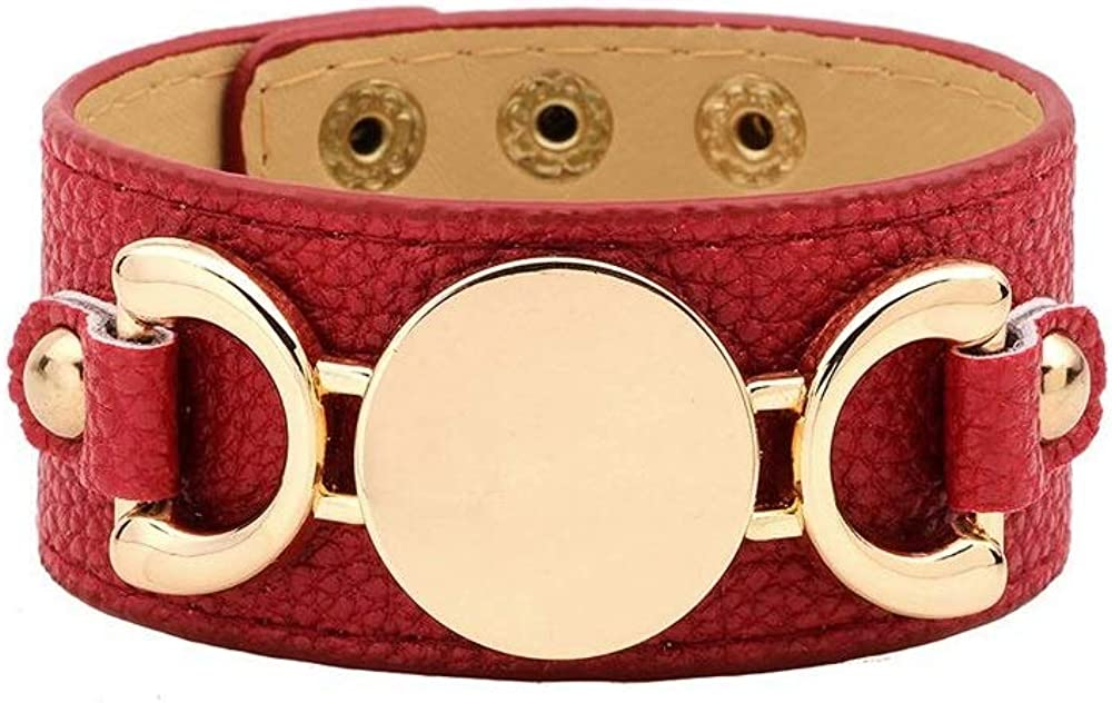 Inspired Wide Cuff Leather...