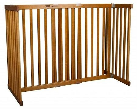 Amish Handcrafted Tall Kensington 1 Panel Free Standing Gate Finish: Mahogany, Size: Small by Dynamic Accents