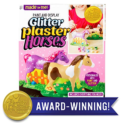 Made By Me Paint & Display Glitter Plaster Horses by Horizon Group USA (With Horses Crafts)