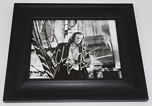 Highlander Connor MacLeod' Christopher Lambert Signed Autographed B/W 8x10 Glossy Photo Gallery Framed Loa